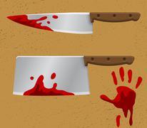 Bloody Knife - stock illustration