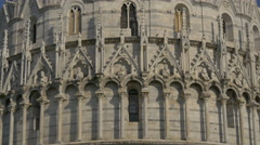 Two architectural styles on The Baptistery of St John in Pisa Stock Footage