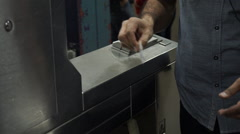 Views of people paying with a subway metro card in NYC Stock Footage