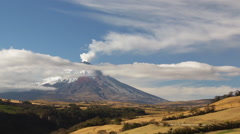 Cotopaxi Volcano erupting in October 2015. - stock footage