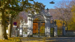 Main entrance to Unesco world heritage site Eggenberg Palace, Graz, Austria Stock Footage