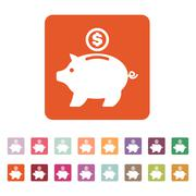 The moneybox icon. Cash and money, wealth, savings symbol. Flat - stock illustration