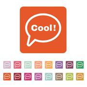 The speech bubble with the word cool icon. Internet and  chat, online symbol - stock illustration