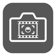 The camera icon. Photo and photographer, film symbol. Flat Stock Illustration