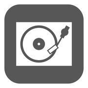 The turntable icon. DJ and gramophone, player, music symbol. Flat Piirros