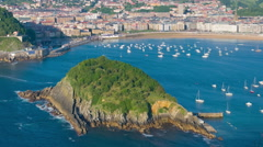 View of San Sebastian in a summer day time lapse Stock Footage