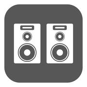 Stock Illustration of The audio icon. Speaker and music, sound, stereo symbol. Flat