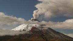 Cotopaxi Volcano erupting in October 2015. Stock Footage