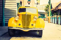 Stock Photo of Headlight lamp of vintage classic car