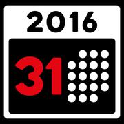 Stock Illustration of Last 2016 Month Day Icon