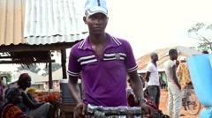 Sunglass street seller Stock Footage