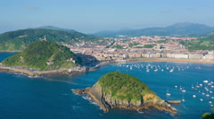 San Sebastian in a summer day timelapse - stock footage