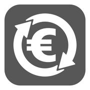 Stock Illustration of The currency exchange euro icon. Cash and money, wealth, payment symbol. Flat
