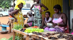 Stock Video Footage of market city africa
