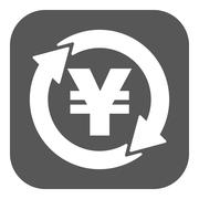The currency exchange yen icon. Cash and money, wealth, payment symbol. Flat Stock Illustration