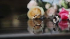 Wedding ring rolling - stock footage