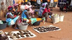 Stock Video Footage of Africa market  city buba