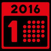 First 2016 Date Icon Stock Illustration