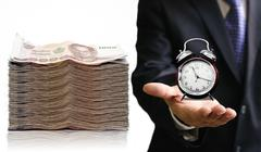 Stock Photo of Time to save your money concept