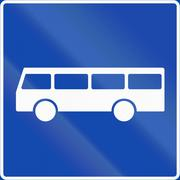 Norwegian regulatory road sign - Bus lane Stock Illustration