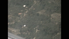 Vintage 16mm film, 1970, Sri Lanka, inflight aerial rural countryside Stock Footage