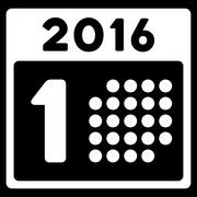 Stock Illustration of First 2016 Date Icon