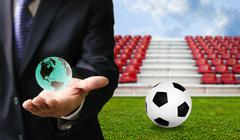 Football sport business concept - stock photo