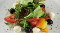 Fresh Greek salad Stock Footage