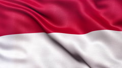 4K Indonesia flag seamless loop Ultra-HD Stock Footage