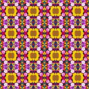 Background from flowers, effect of a kaleidoscope. Packing, advertizing, clot - stock photo