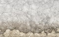 old brown plastered crumble texture of aged wall - stock illustration
