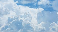 white cloud covered sky, cloudy dramatic sky, abstract heaven background - stock photo