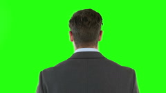 Exasperate businessman Stock Footage