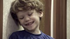 Laughing Curly Boy HD Stock Footage