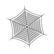Halloween spider web, cobweb symbol, icon. vector illustration isolated on wh Stock Illustration