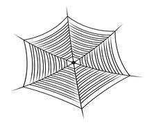 Halloween spider web, cobweb symbol, icon. vector illustration isolated on wh - stock illustration