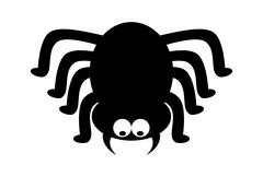 Spider halloween icon, symbol Silhouette. Vector illustration on white backgr Stock Illustration
