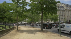 Driving at Place du Trocadero et du 11 Novembre in Paris Stock Footage