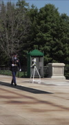 Arlington National Tomb Guard vertical HD Stock Footage