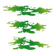 Stock Illustration of Puddle of toxic substance spill. Green chemical stain, plash, drop. Vector il