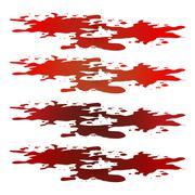 Blood puddle, red drop, blots, stain, plash od blood. Vector illustration iso - stock illustration