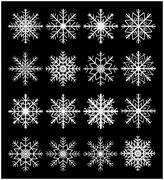 Stock Illustration of Snowflake silhouette icon, symbol, design set. Winter, christmas vector illus