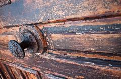 peeling paint door - stock photo