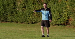 Soccer coach has an emotional outburst during a match. Shot on RED Epic. Stock Footage