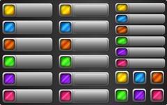 Web button set. Internet empty colorful rectangular buttons Stock Illustration