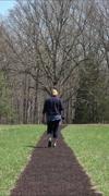 Chancellorsville Virginia Civil War battlefield woman vertical HD Stock Footage