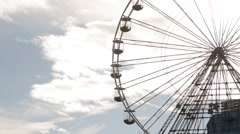 Central Pier, Blackpool Beach. Ferris Wheel Stock Footage