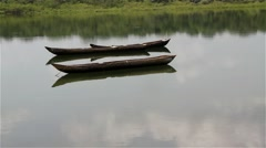 African fish boat Stock Footage