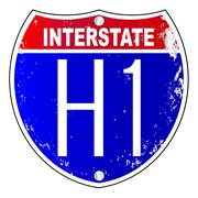 Stock Illustration of Hawaii Interstate Sign