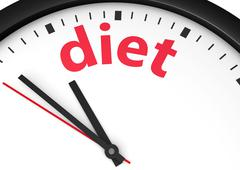 Time For Diet Concept - stock illustration
